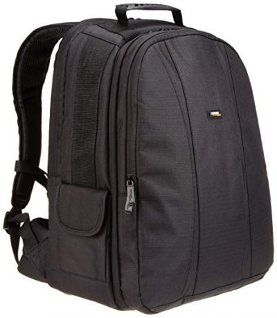 DSLR and Laptop Backpack with Grey Interior from AmazonBasics: