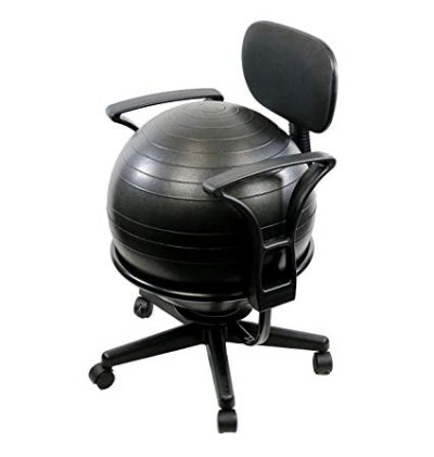 "CanDo Metal Ball Chair, 22"" with Arms:"