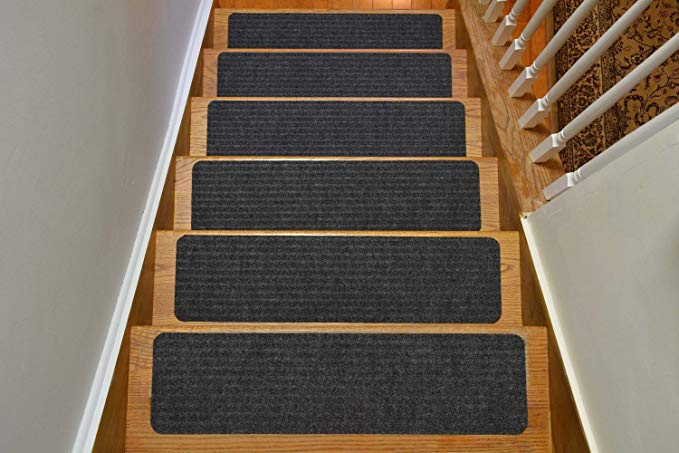 Stair Treads Collection Indoor Skid Slip Resistant Carpet Stair Tread:
