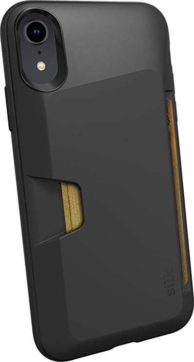 3. Silk iPhone XR Wallet Case - Wallet Slayer Vol. 1 [Slim Protective Vault Grip Credit Card Cover] - Black Tie Affair: