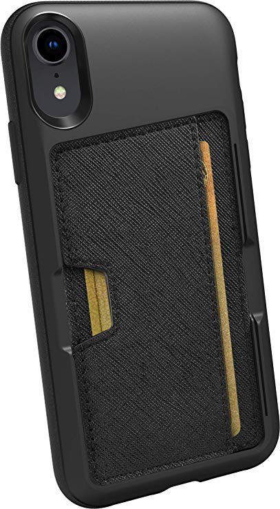 Silk iPhone XR Wallet Case - Wallet Slayer Vol. 2 [Slim Protective Kickstand CM4 Q Card Case Grip Cover] - Black Tie Affair: