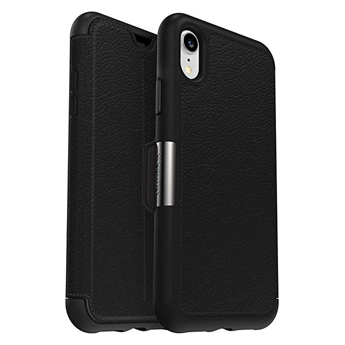 OtterBox Strada Series Case for iPhone XR - Retail Packaging - Shadow (Black/Pewter):