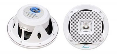 Lanzar 5.25 Inch Marine Speakers - Audio Stereo Sound System with 2 Way Water Resistant: