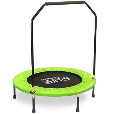 """Pure Fitness 40"""" Mini Rebounder Trampoline for Ages 13+:"""