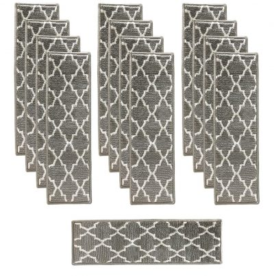 Sultansville Trellisville Collection Trellis Design Vibrant and Soft Stair Treads: