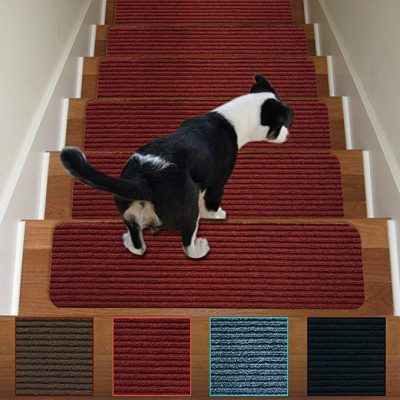 Stair Treads Non-Slip Carpet Indoor Set of 13 Carpet Stair Tread by Antdle: