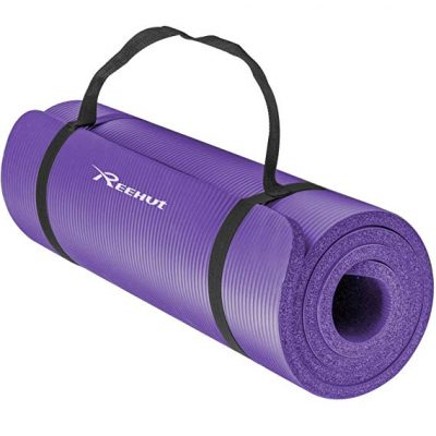 REEHUT Yoga Mat 1/2-Inch Extra Thick High Density NBR Exercise Mats: