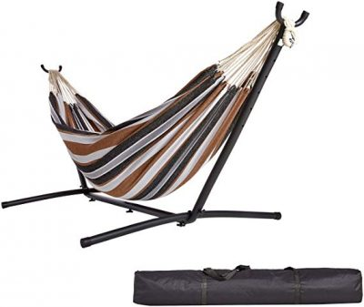 Fabric Hammock with Stand by AmazonBasics: