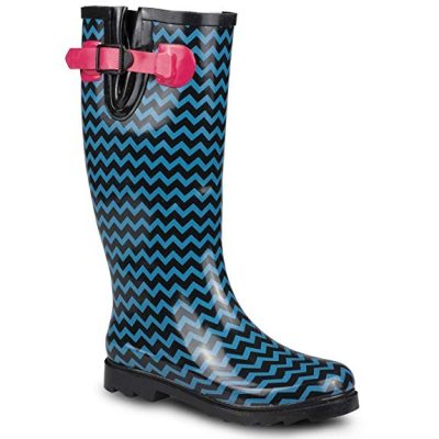 Twisted Women's Drizzy Tall Cute Rubber Rain Boots: