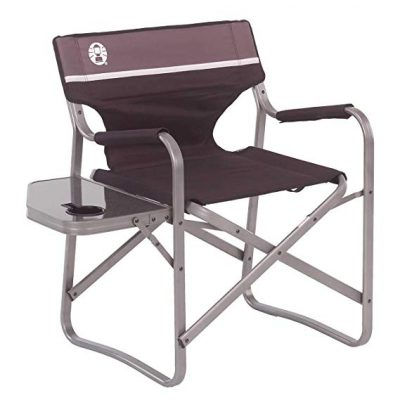 Coleman Portable Deck Chair with Side Table: