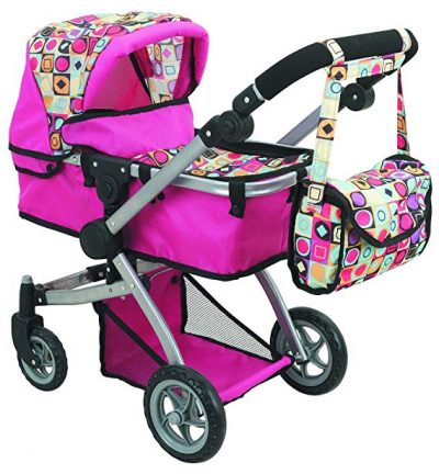 Doll Strollers Pro Deluxe Doll Stroller with Swiveling Wheels: