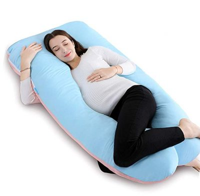 QUEEN ROSE 55in Full Body Pregnancy Pillow-U shaped Body Pillow:
