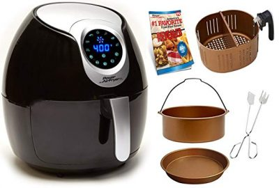 Power Air Fryer XL 5.3 QT Black Deluxe - Turbo Cyclonic Airfryer: