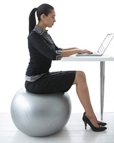 Exercise Ball Chair from Professional Strength Antiburst Ball with Hand Pump by CalCore: