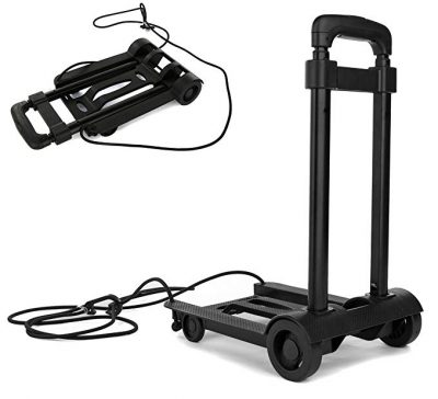 Folding Compact Lightweight Durable Luggage Cart Travel Trolley by DY Reier: