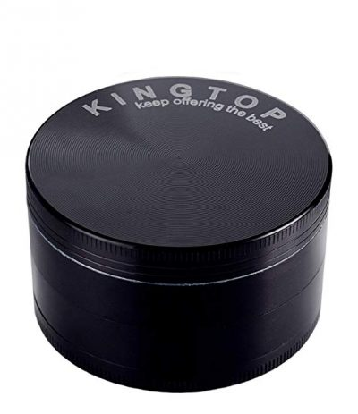 3. Kingtop Herb Spice Grinder Large 3.0 Inch Black:
