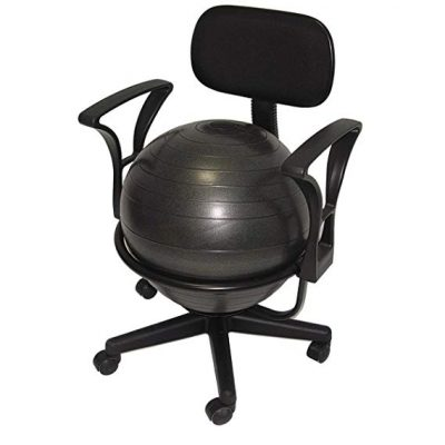 3. Deluxe Fitness Ball Chair in Black by AEROMATS: