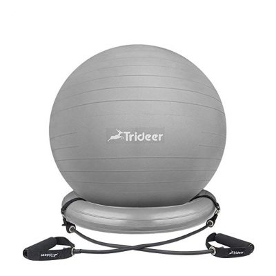 Trideer Exercise Ball Chair, Stability Ball with Ring and Pump: