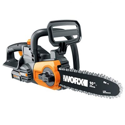Worx WG322 20V Cordless Chainsaw Tension and Auto-Oiling:
