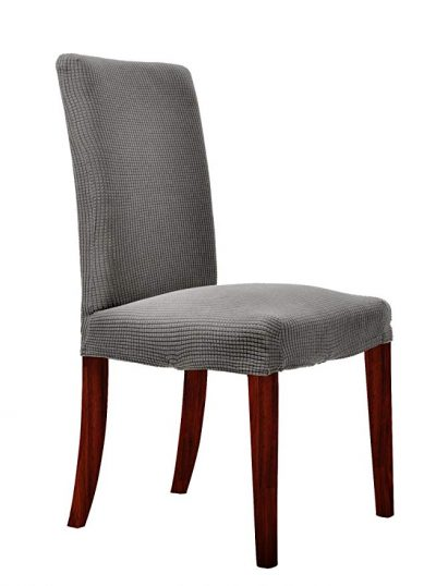 3. CHUN YI Waterproof Jacquard Polyester Spandex Dining Chair Covers: