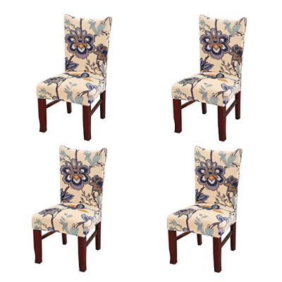 Jiuhong Stretch Washable Dining Chair Protector Cover Slipcover:
