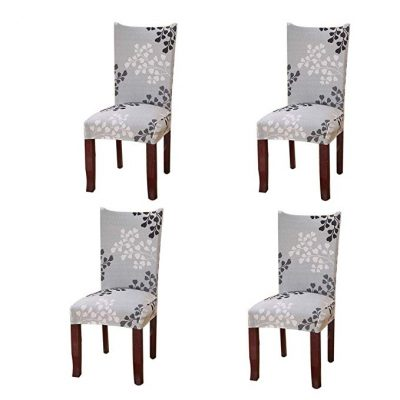 Jiuhong Stretch Removable Short Dining Chair Protector Cover: