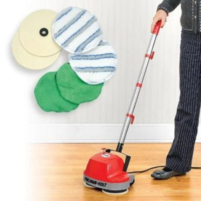 3. Floor Cleaning Machine - Mini Buffer Scrubber Polishes Surfaces Including Carpet by Worldgoodscorp: