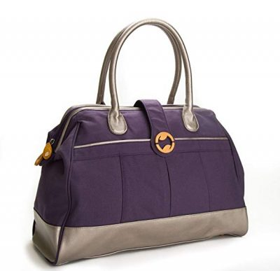 CASSIA weekender bag with organic cotton and vegan leather: