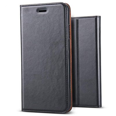 3. iPhone XS Max Case, BELKA[Simple Retro Style] Handmade Soft Leather Flip Folio Slim Wallet Cover Case[Magnetic Closure][Credit Card Slot][TPU Bumper][Kickstand] for iPhone XS Max 6.5 inch 2019 by BELKA: