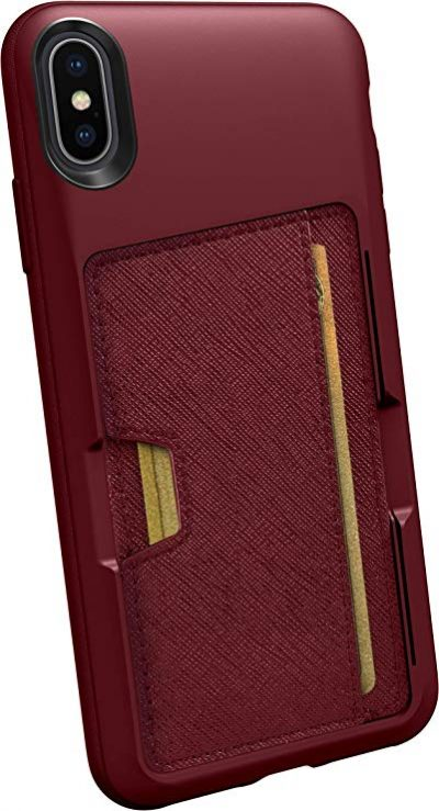 Silk iPhone Xs Max Wallet Case - Wallet Slayer Vol. 2 [Slim Protective Kickstand CM4 Q Card Case Grip Cover] - Red Rover Red Rover: