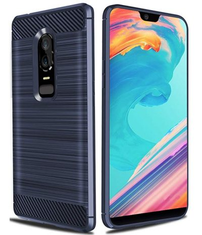 Oneplus 6 Case,Asmart Resilient Shock Absorption Slim Soft TPU Bumper Cover Protective Phone Case Oneplus 6 (Blue) by ASMART: