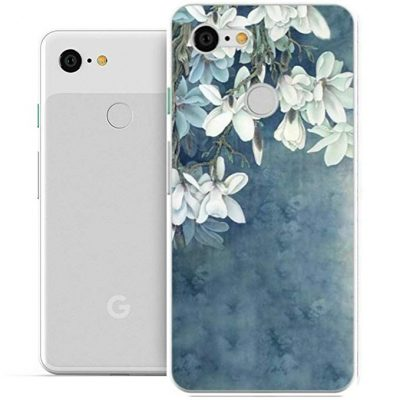 Google Pixel 3 XL Case, Google Pixel3 XL Case, Starhemei Full-Body Protection TPU Soft Shell Ultra Thin Flexibility Bumper Rubber Case Cover for Google Pixel 3 XL (Faint Blue):