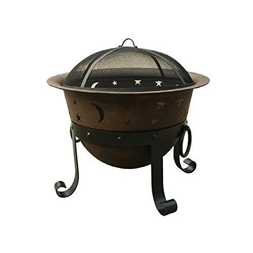 "Catalina Creations 29"" Heavy Duty Cast Iron Fire Pit with Cover and Accessories:"