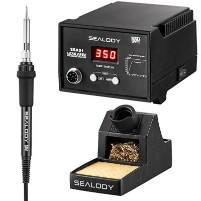 Digital Soldering Station with Pure Aluminum Soldering Stand by SEALODY: