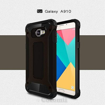 3. Cocomii Commando Armor Galaxy A9/A9 Pro Case New [Heavy Duty] Premium Tactical Grip Dustproof Shockproof Bumper [Military Defender] Full Body Dual Layer Rugged Cover for Samsung Galaxy A9 (C.Black):
