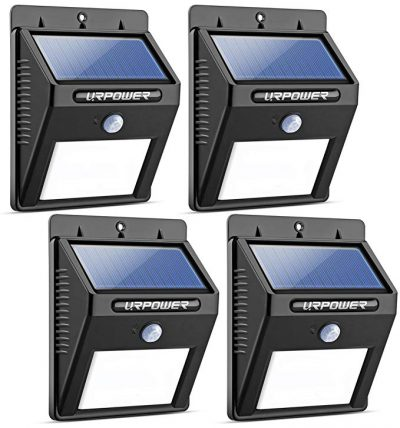 URPOWER Solar Lights 8 LED Wireless Waterproof Motion Sensor Outdoor Light: