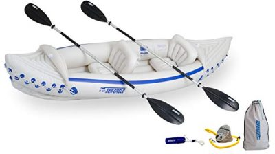 Sea Eagle 330 Inflatable Kayak with Deluxe Package: