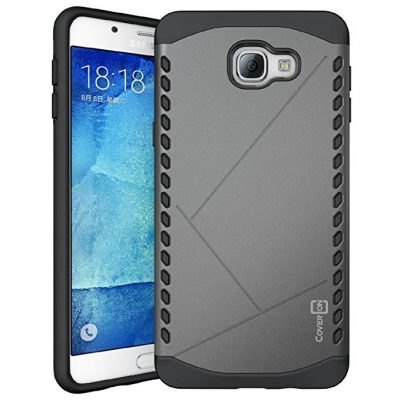 Samsung Galaxy A9 Case 2016, CoverON [Paladin Series] Slim Fit Hard Protective Modern Style Phone Case for Samsung Galaxy A9 - Gunmetal Gray & Black: