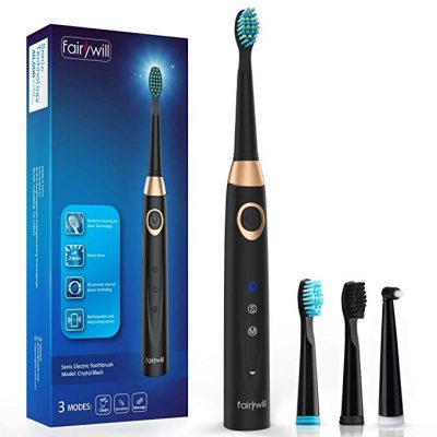 Sonic Electric Toothbrush Rechargeable for Adults by Fairywill: