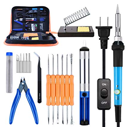 3. Soldering Iron Kit, Kusonkey Adjustable Temperature Welding Soldering Iron: