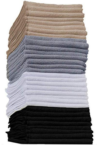 10 OxGord Microfiber Cleaning Cloth 32pc Pack Bulk: