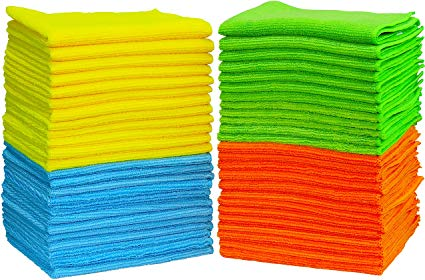 50 Pack - SimpleHouseware Microfiber Cleaning Cloth: