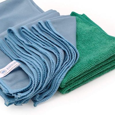 Microfiber Glass Cleaning Cloths - 8 Pack | Lint Free - Streak Free by Microfiber Wholesale:
