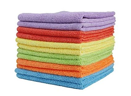 3. Clean Leader Microfiber Cleaning Cloths Best Kitchen Dish Cloths with Poly Scour Side: