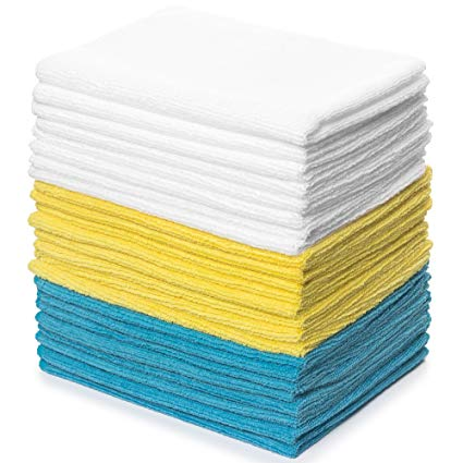 Royal Reusable Microfiber Cleaning Cloth Set - 12 x 16 Inch Microfiber Cloth - 24 Pack Washcloth: