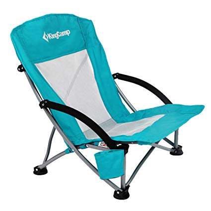 KingCamp Low Sling Beach Camping Concert Folding Chair with Mesh Back: