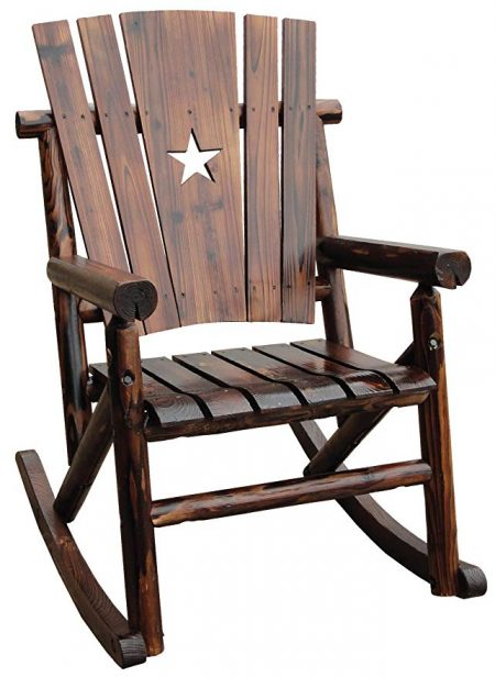 4. Char-Log Single Rocker with Star by Leigh Country: