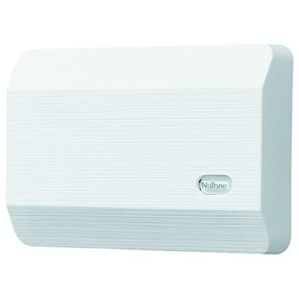 NuTone LA11WH Decorative Wired Two-Note Door Chime, White Textured by Broan: