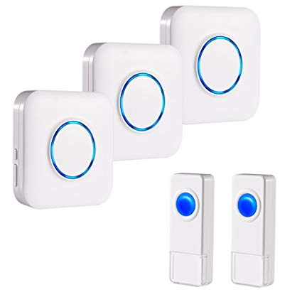 BITIWEND Wireless Doorbell Kit,Operating at 1000 Feet with 52 Chimes: