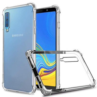 Galaxy A7/A750 (2020) Case, Zeking Slim Thin Anti-Scratch Clear Flexible TPU Silicone Four Corner Bumper Protective Case Cover Compatible Samsung Galaxy A7 (2020)(Transparent) by ZeKing: